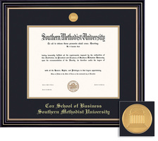 Framing Success BA Business Prestige Mdl Dip, Dbl Mat in satin black finish with gold accents