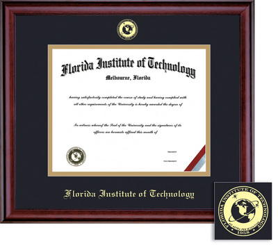 Framing Success Classic PHD Double Matted Diploma Frame in a Burnished Cherry Finish