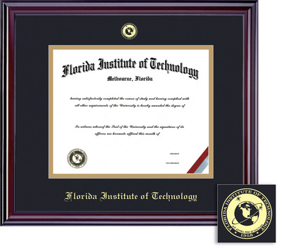 Framing Success Elite PHD Diploma Frame, in Gloss Cherry Finish Double Matted