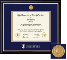 Framing Success Prestige Diploma Frame Double Matted in Satin Black Finish, Gold Trim, Bachelors
