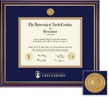 Framing Success Windsor Diploma Frame in Gloss Cherry Finish and Gold Trim, Bachelors