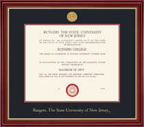 Regal Medallion Frame Double Matted Diploma Frame