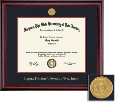 Framing Success Classic MA 11 X 14 With Medallion Diploma Frame