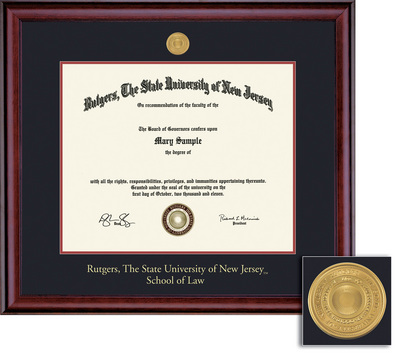 Framing Success Classic Law 11 X 14 With Medallion Double Matted In Cherry Finish