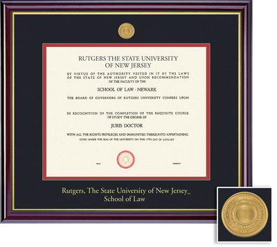 Framing Success Windsor Law 11 X 14 Medallion Double Matted In Gloss Cherry Finish