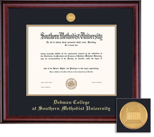 Framing Success Classic Dedman Medallion Double Matted Bachelors Diploma Frame