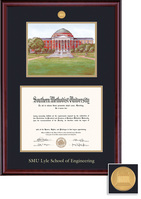 Framing Success BA Eng. Litho Classic Mdl Dip, Dbl Mat in rich burnished cherry finish