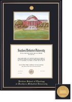 Framing Success Theology Litho Prestige Mdl Dip, Dbl Mat in satin black finish with gold accents