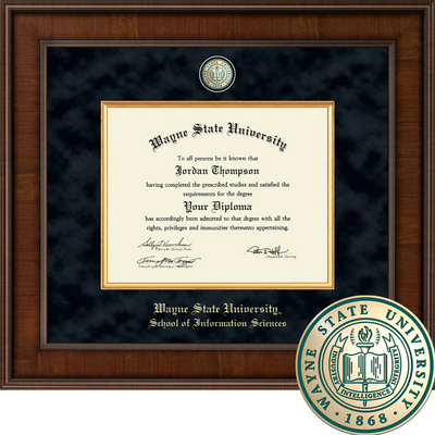 Church Hill Classics Presidential Diploma Frame.  Information Science (Online Only)