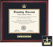 Framing Success Classic Nursing Frame  Double Matted In Burnished Cherry Finish