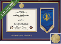 Framing Success Windsor Diploma & Stole Frame. Bachelors. Masters