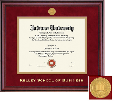 Framing Success Kelley School of Business Classic Dbl Matted Diploma Frame, Burnished Cherry Finish