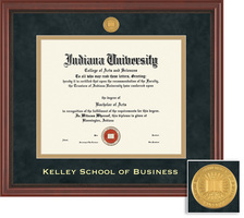 Framing Success Kelley School of Business Grandeur Diploma Frame with Mahogany Finish