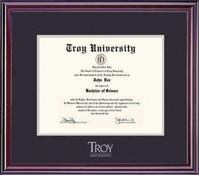 Troy Campus Bookstore - Framing Success Elite Diploma Frame in Gloss ...