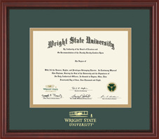 BA, MA Grandeur Diploma Frame with Mahogany Finish and Carved Inner Border