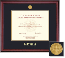 Framing Success Classic 608 Pres Law Medallion Double Matted Diploma Frame