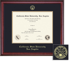 Framing Success Los Angeles Diploma Frame Double Matted in a Burnished Cherry Finish
