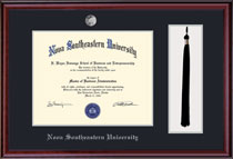 Framing Success Classic Diploma Frame with Tassel Double Matted in a Burnished Cherry Finish