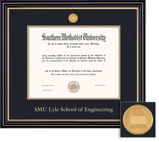 Framing Success Engineering Prestige Mdl Dip, Dbl Mat in satin black finish with gold accents