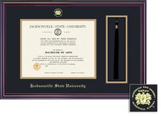 Framing Success Elite Diploma Frame. Double Matted in Gloss Cherry Finish