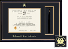 Framing Success Diploma & Tassel Frame, Black & Gold Mat, Satin Black Finish, Beautiful Gold Accents