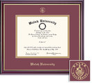 Framing Success Windsor Diploma Frame with Maroon and Gold Double Mat. Doctorate