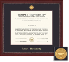 Framing Success Grandeur Diploma Frame with Mahogany Finish and Carved Inner Border