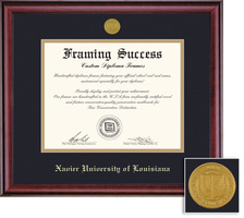 Framing Success Classic Double Matted Diploma Frame in a Burnished Cherry Finish. Doctorate