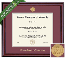 Framing Success Classic Diploma Framewith Medallion, Dbl Matted in a Burnished Cherry Finish