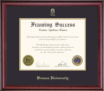 Framing Success Classic MA Diploma Frame Double Matted in a Burnished Cherry Finish