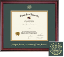 Framing Success Classic Law Upgrade Double Matted Diploma Frame