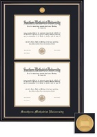 Framing Success BA Dbl Dip Prestige Mdl, Dbl Mat in satin black finish with gold accents