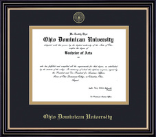 Framing Success Prestige Diploma Frame, Double Matted in Satin Black Finish, Gold Trim