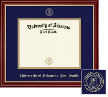 Framing Success Regal Diploma Frame Dble Matted in a Cherry Finish with Gold Accents