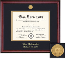 Framing Success Classic Law Medallion Double Matted Diploma Frame