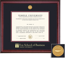 Framing Success Classic Medallion Fox 109 Pres Double Matted Diploma Frame