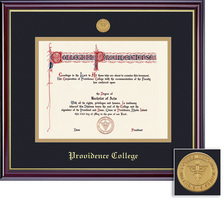 Framing Success Windsor Diploma Frame in Gloss Cherry Finish and Gold Trim