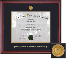 Framing Success Classic Medallion Double Matted Diploma Frame in a Burnished Cherry Finish