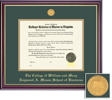 Framing Success Windsor Medallion Double Matted Diploma Frame. Mason School of Business