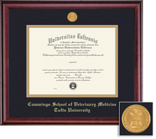Framing Success Classic Medallion VetMedicine Double Matted Diploma Frame