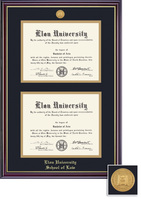 Framing Success Windsor Medallion Double Diploma Double Matted Diploma Frame