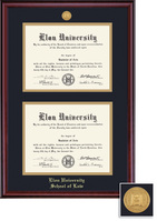 Framing Success Classic Medallion Double Diploma Double Matted Diploma Frame