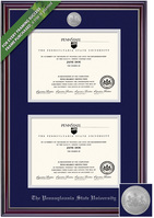 Framing Success Jefferson Double Diploma Frame. Bachelors. Masters. PhD