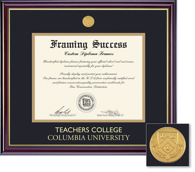 Framing Success Windsor Medallion Double Diploma Frame Matted in Gloss Cherry Finish
