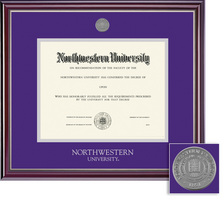 Framing Success Jefferson Double Diploma Frame with a High Gloss Cherry Finish with Silver Bevel