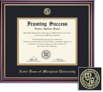 Framing Success Windsor BA Diploma Frame in Gloss Cherry Finish and Gold Trim