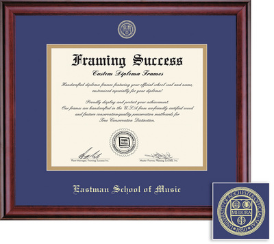 Framing Success Classic Diploma Frame Burnished Cherry Finish. BA, MA, DMA