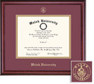 Framing Success Classic Diploma Frame with Maroon and Gold Double Mat. Bachelors, Masters