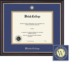 Framing Success Prestige Diploma Frame, Double Matted in Satin Black Finish, Gold Trim. Masters