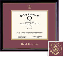 Framing Success Prestige Diploma Frame with Maroon and Gold Double Mat. Bachelors, Masters